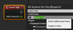 Add the Event Tick node.